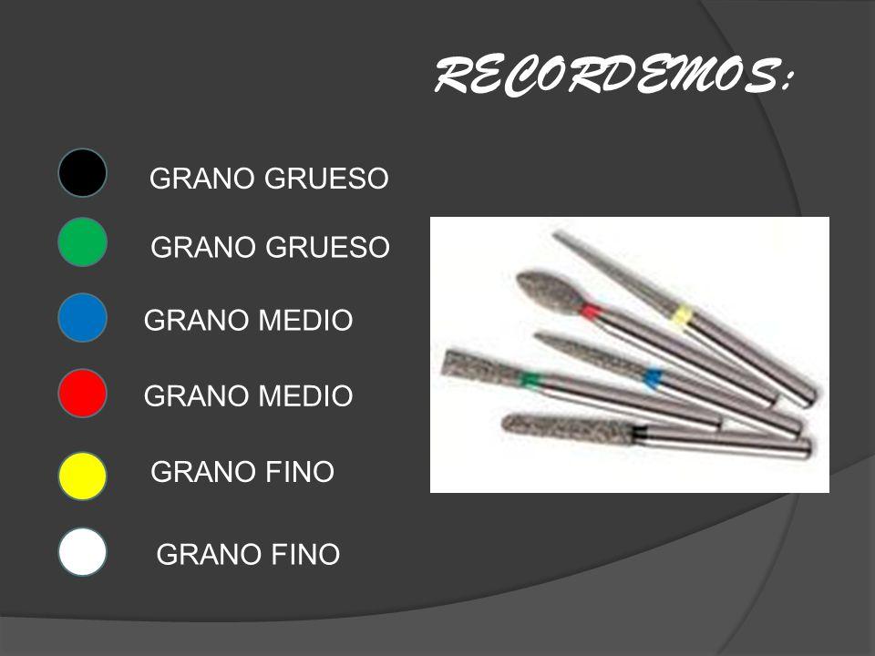 GRANO GRUESO GRANO MEDIO GRANO FINO RECORDEMOS: