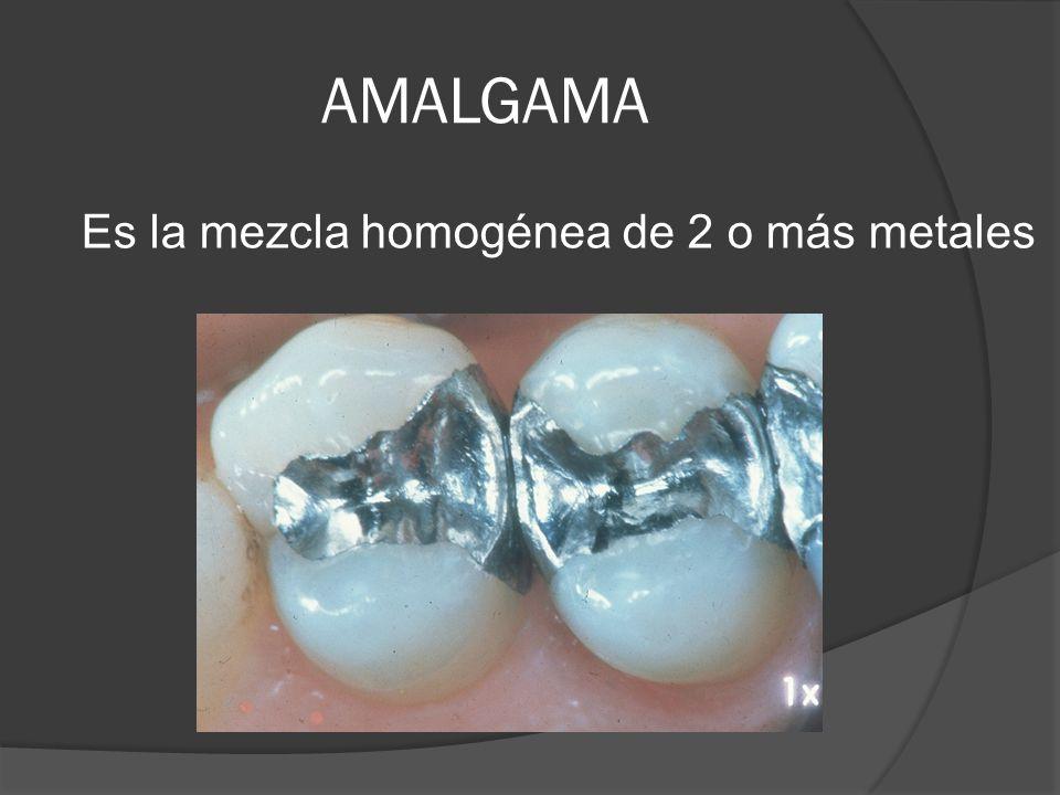 AMALGAMA Es la mezcla homogénea de 2 o más metales
