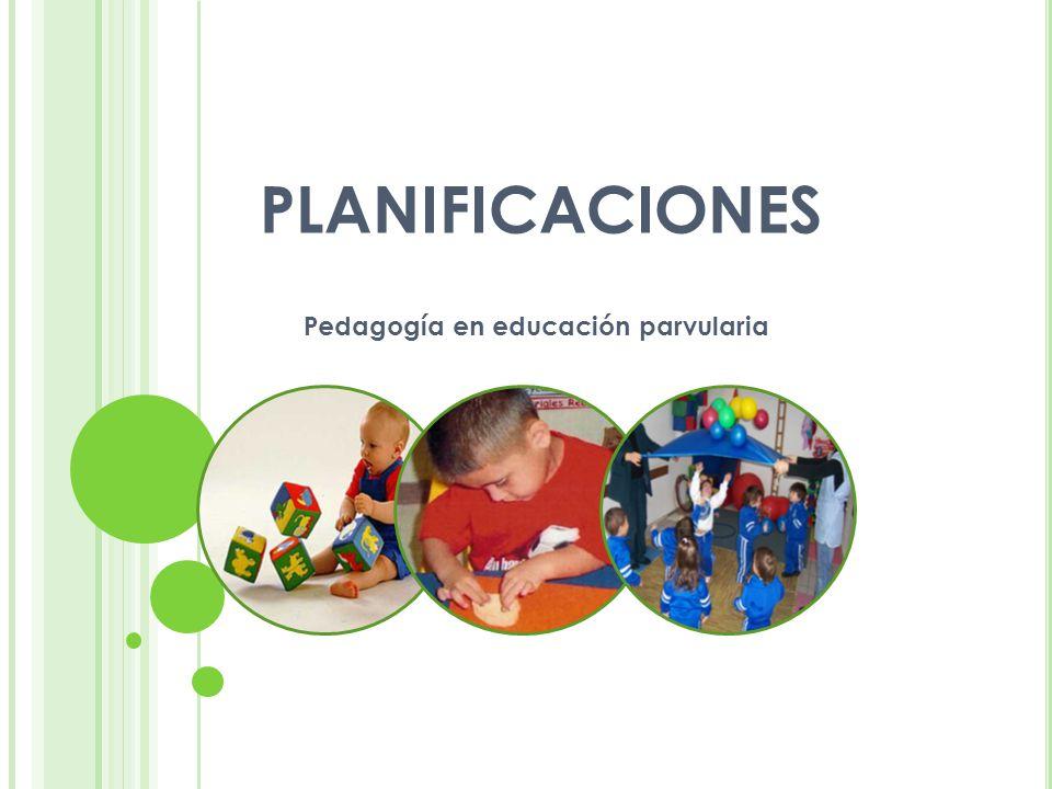 PLANIFICACIONES Pedagogía en educación parvularia