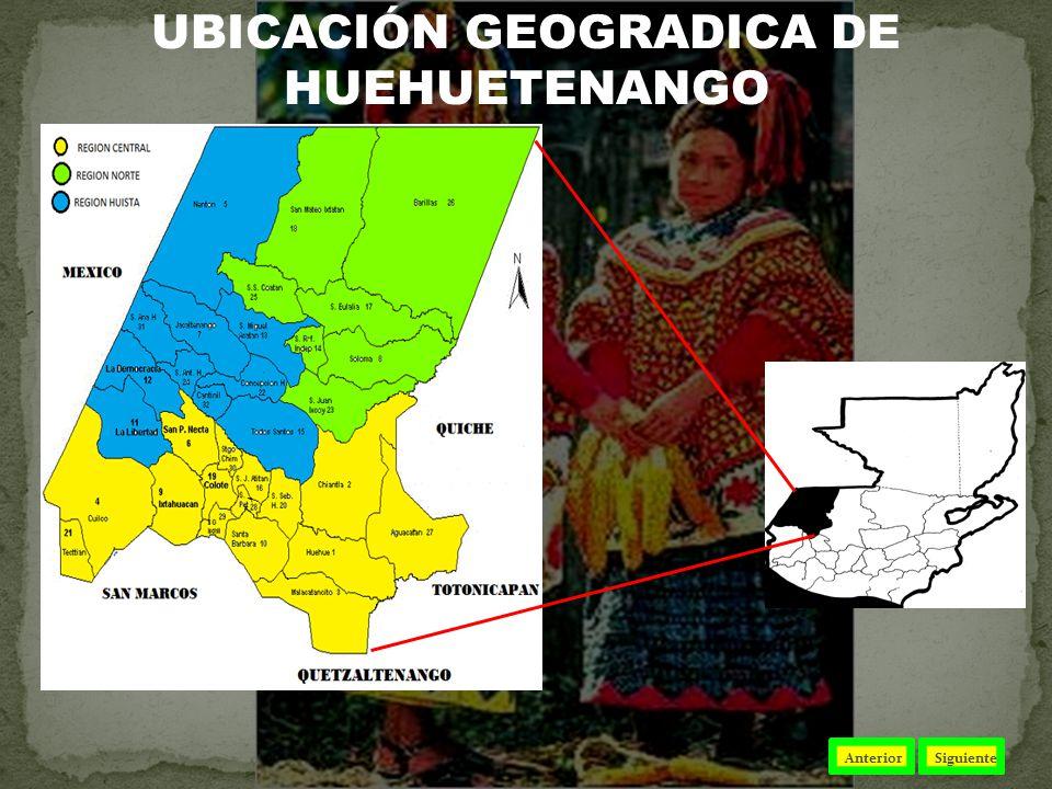 UBICACIÓN GEOGRADICA DE HUEHUETENANGO AnteriorSiguiente