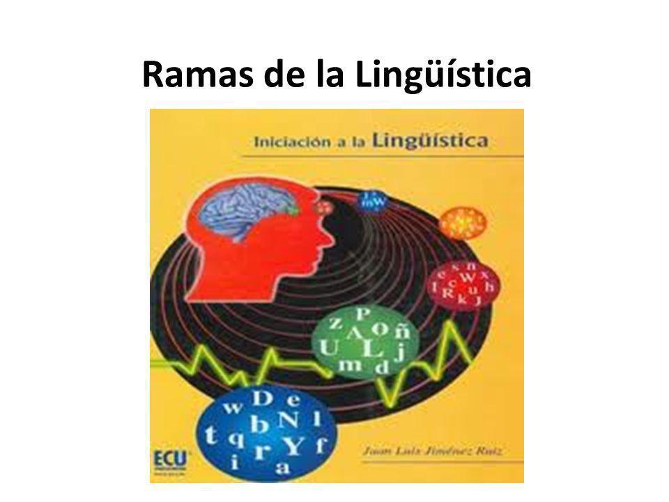 Ramas de la Lingüística