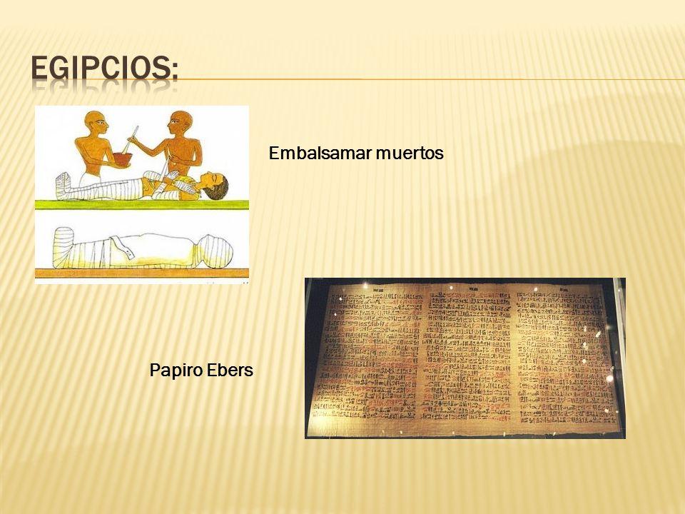 Embalsamar muertos Papiro Ebers