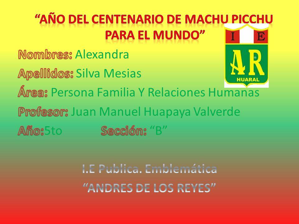 ROSA ASCOY JURADO PROFESORA DE COMUNICACION