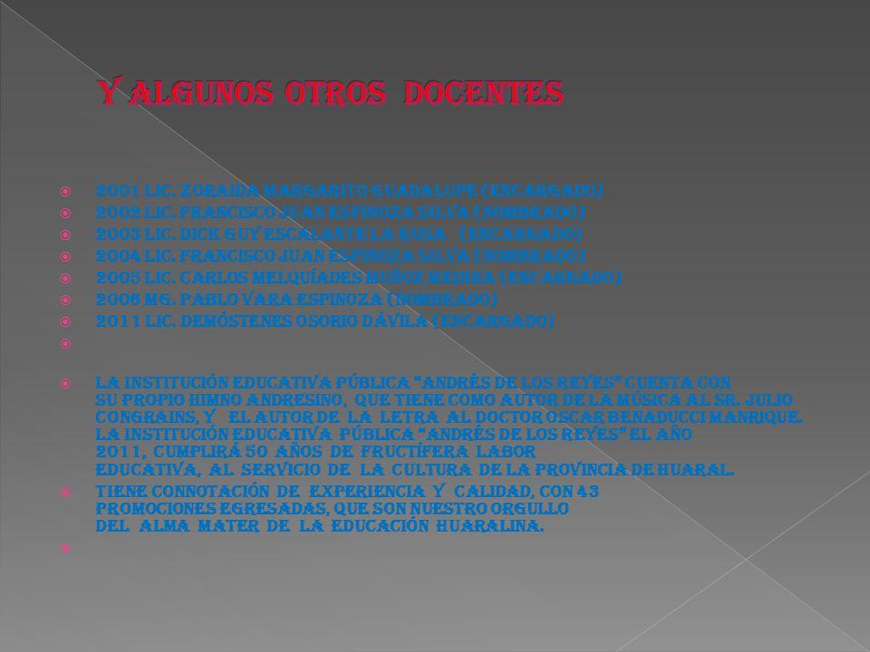 2001 Lic.Zoraida Margarito Guadalupe (Encargado) 2002 Lic.