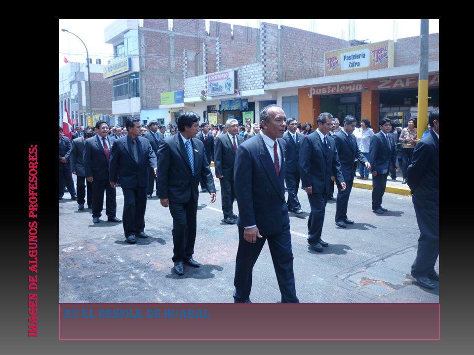 En el desfile de huaral