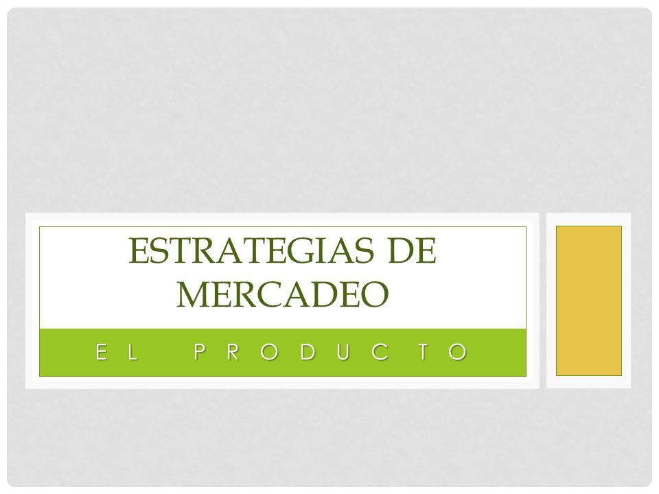 E L P R O D U C T O ESTRATEGIAS DE MERCADEO