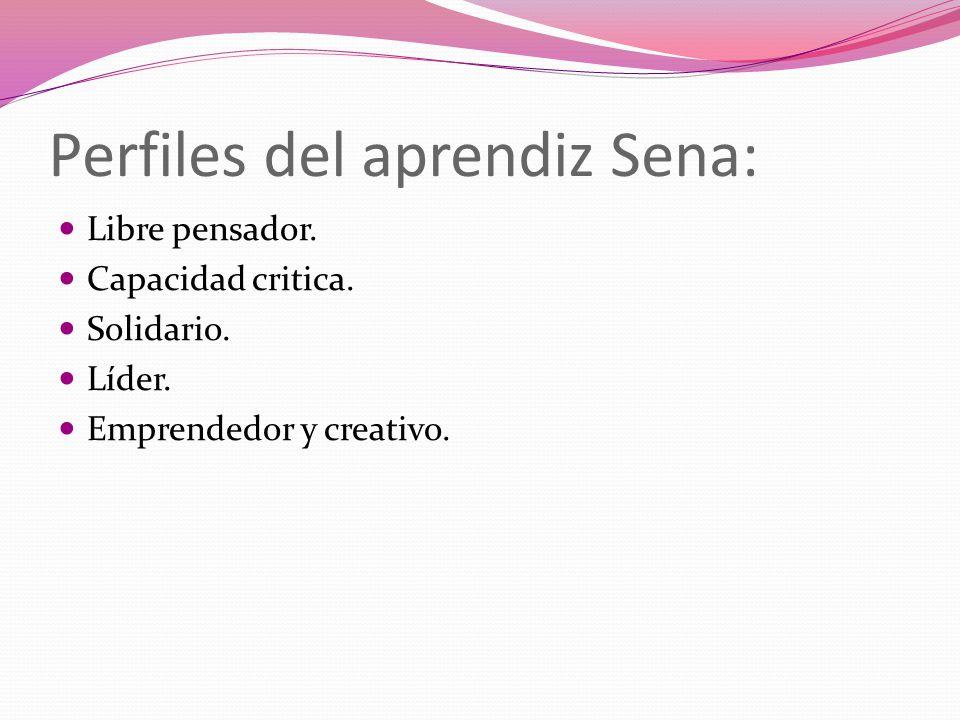 REFERENCIAS BIBLIOGRÁFICAS: http://senacasanorte.blogspot.com/2008/07/perfil-del-aprendiz-sena.html https://sites.google.com/a/misena.edu.co/aprendizaje-en-el-sena/lo- corporativo/valores https://sites.google.com/a/misena.edu.co/aprendizaje-en-el-sena/lo- corporativo/valores http://bvs.sld.cu/revistas/aci/vol11_6_03/aci10603.htm http://www.eltrabajoenequipo.com/Grupovsequipo.htm http://definicion.de/cognitivo/ http://mgiportal.sena.edu.co/Portal/El+SENA/Direcciones+y+Oficinas/Oficina+de +Control+Interno+Disciplinario.htm http://mgiportal.sena.edu.co/Portal/El+SENA/Direcciones+y+Oficinas/Oficina+de +Control+Interno+Disciplinario.htm http://senacertifica.blogspot.com/2008/03/beneficios-de-la-certifificacin.html http://www.mineducacion.gov.co/1621/w3-article-299212.html http://competenciaslaboralesgrales.blogspot.com/2010/06/c-competencias- laborales-generales.html http://competenciaslaboralesgrales.blogspot.com/2010/06/c-competencias- laborales-generales.html http://clubensayos.com/Temas-Variados/Reconociendo-Nuestro-Entorno- Socioeconomico/538401.html http://clubensayos.com/Temas-Variados/Reconociendo-Nuestro-Entorno- Socioeconomico/538401.html