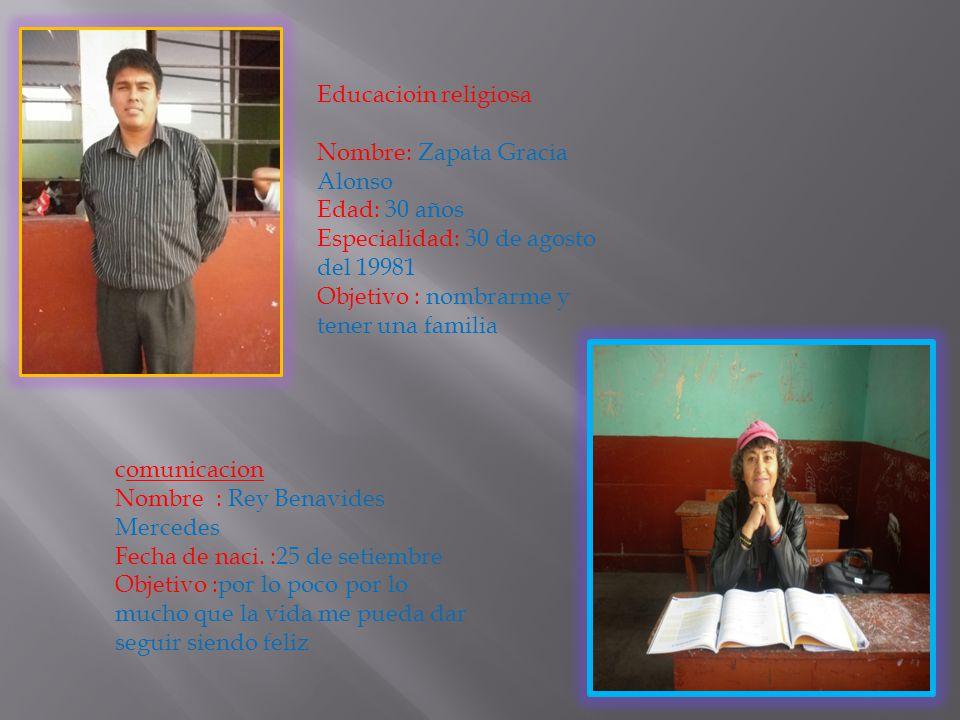 c.t.a Nombre :Ariza Grados Adrian Edad:48 años Fecha de nac.:14 de octubre Objetivo : ser catedral en una universidad privada y publica Educación para