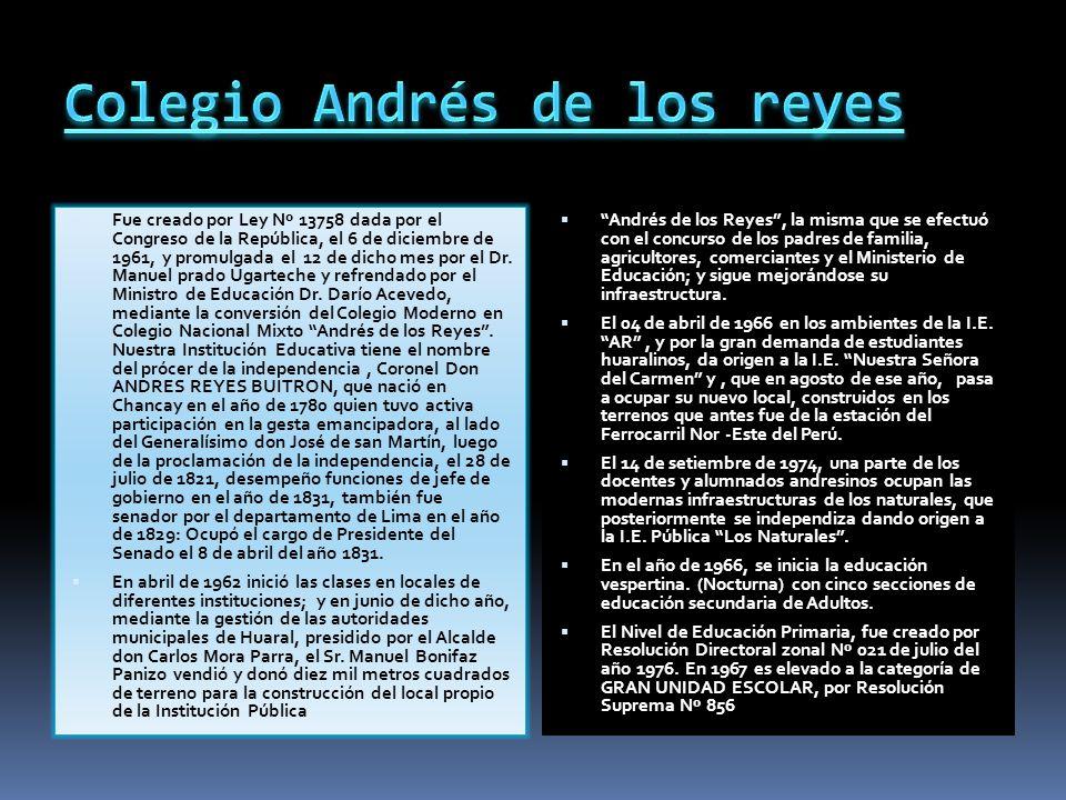Andrés de los Reyes Buitrón Josep Andrés Corcino de los Reyes y Buitrón (* Chancay, 30 de diciembre de 1780 - Lima, 24 de julio de 1856), fue un Próce
