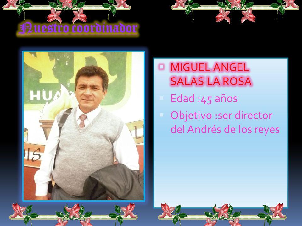 Félix Pajuelo Chaves Edad :48 años Fecha de nac. :26 de diciembre de del1962 Objetivo: realizar una buena gestión adecuado a las normas del ministerio