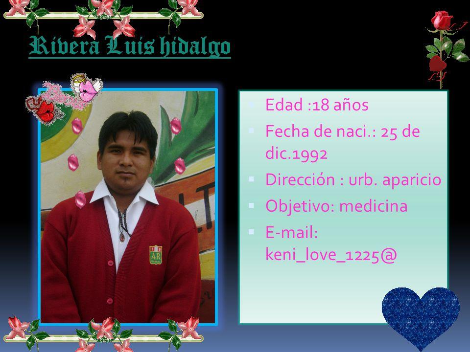 Castro Inga José Edad :17 años Fecha de naci.: 4 de febr.1994 Dirección : jecuan s/n Objetivo: E-mail: jose_acuario_x100pre Teléfono: