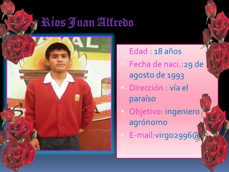 Yupanqui Mariño Joel Edad :17 años Fecha de naci.:14 mayo 1993 Dirección :Esquivel Objetivo: policía Teléfono:989516237
