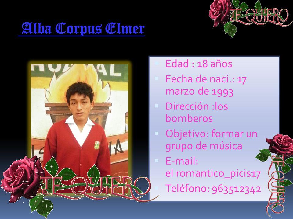 Guzmán Filios Abraham Edad : 17 años Fecha de naci.: 29 de agosto 1993 Dirección : Luis falcón s/n Objetivo: arquitecto E-mail:rank_28_09@ Teléfono: