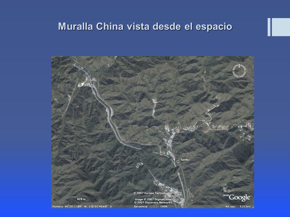 Muralla China vista desde el espacio