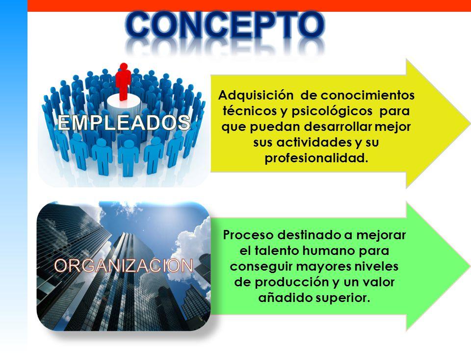 Adquisición de conocimientos técnicos y psicológicos para que puedan desarrollar mejor sus actividades y su profesionalidad.