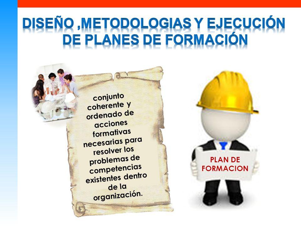 conjunto coherente y ordenado de acciones formativas necesarias para resolver los problemas de competencias existentes dentro de la organización.