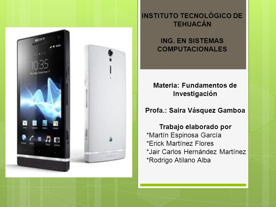 INSTITUTO TECNOLÓGICO DE TEHUACÁN ING.