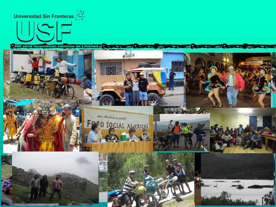 DE LAS CICLOEXPEDICIONES La Cicloexpedición es la actividad principal de la USF, es su instrumento de pedagogía popular.