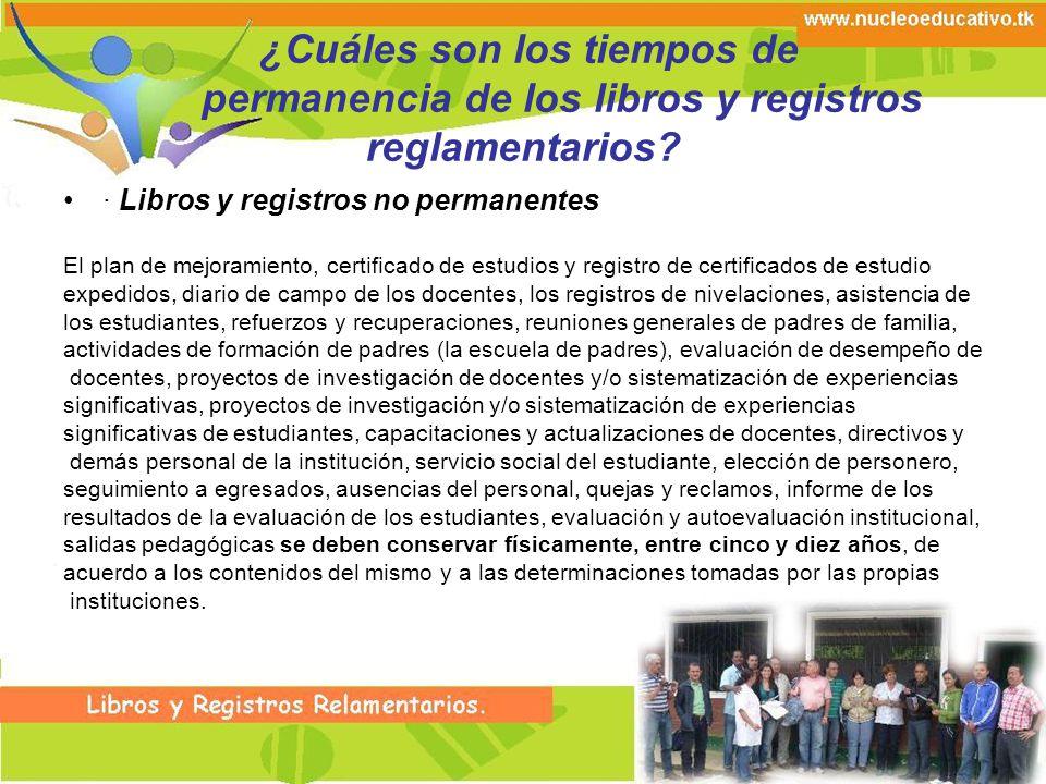 Registro de la Evaluación y Autoevaluación Institucional.