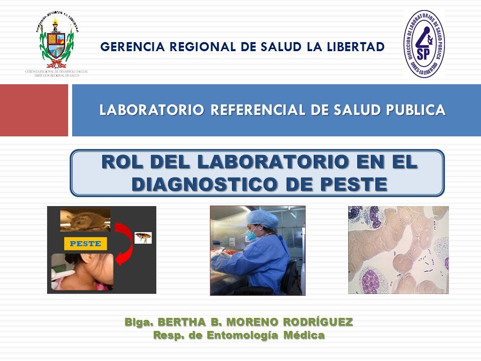 LABORATORIO REFERENCIAL DE SALUD PUBLICA GERENCIA REGIONAL DE SALUD LA LIBERTAD Blga. BERTHA B. MORENO RODRÍGUEZ Resp. de Entomología Médica