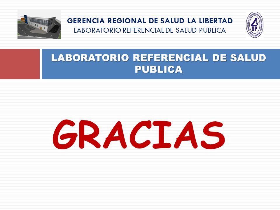GRACIAS LABORATORIO REFERENCIAL DE SALUD PUBLICA GERENCIA REGIONAL DE SALUD LA LIBERTAD LABORATORIO REFERENCIAL DE SALUD PUBLICA