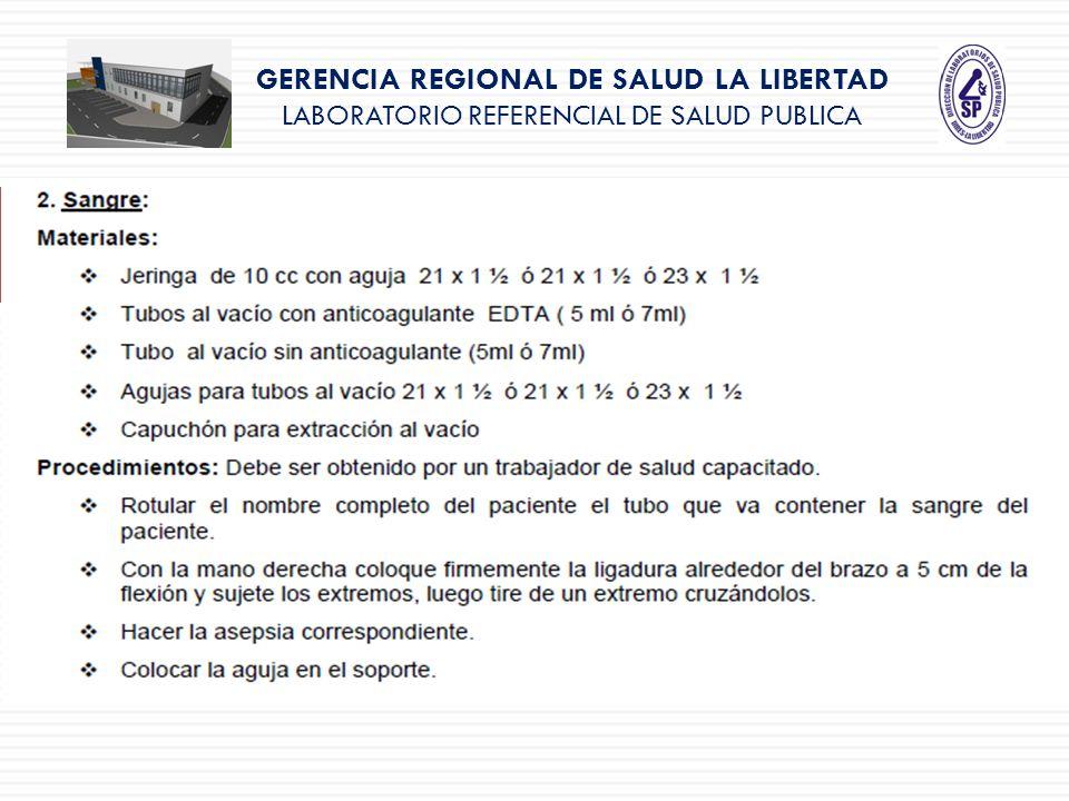 GERENCIA REGIONAL DE SALUD LA LIBERTAD LABORATORIO REFERENCIAL DE SALUD PUBLICA