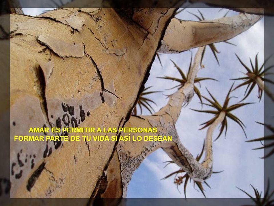 AMAR A LAS PERSONAS SIGNIFICA DARLES LA LIBERTAD DE SER QUIENES DECIDAN SER Y DE ESTAR DONDE DECIDAN ESTAR.