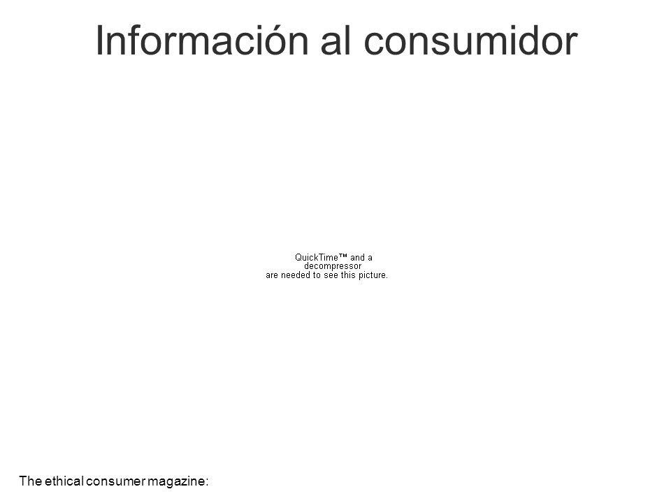 Información al consumidor The ethical consumer magazine: