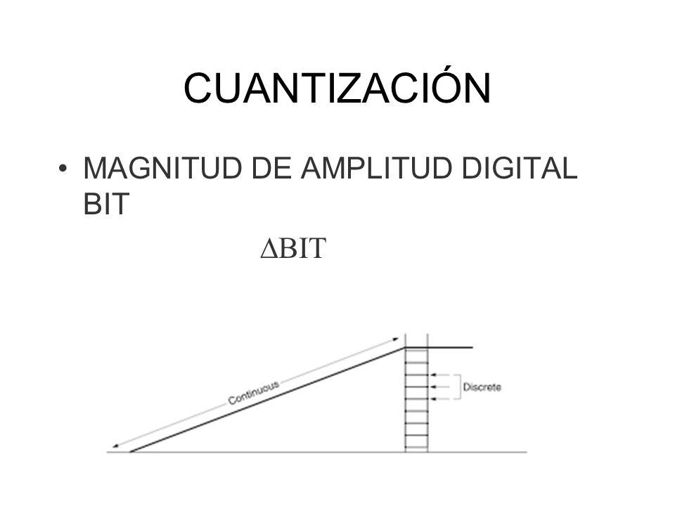 CUANTIZACIÓN MAGNITUD DE AMPLITUD DIGITAL BIT