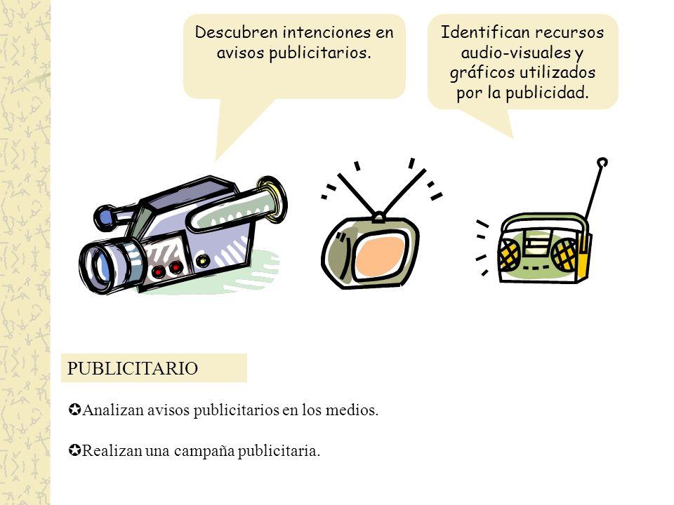 PUBLICITARIO Descubren intenciones en avisos publicitarios.