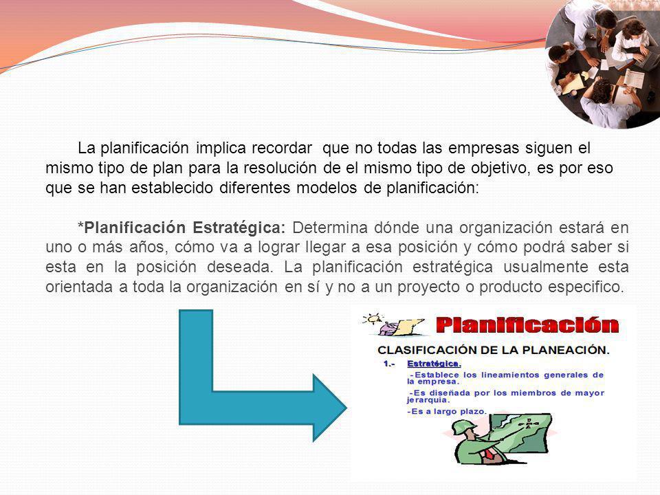 *Planificación Táctica: Define con claridad que desea o qué pretende lograr la empresa u organización, cómo y cuándo se realizara lo planificado y quién será el responsable o encargado de realizarlo.