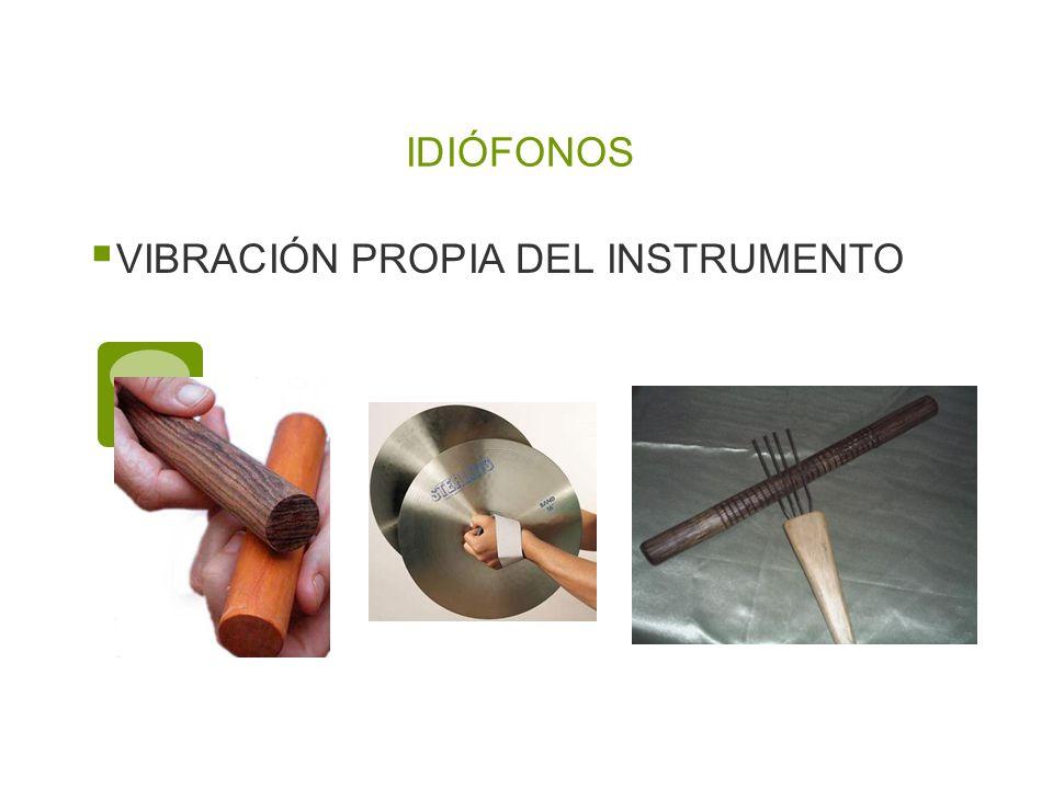 IDIÓFONOS VIBRACIÓN PROPIA DEL INSTRUMENTO