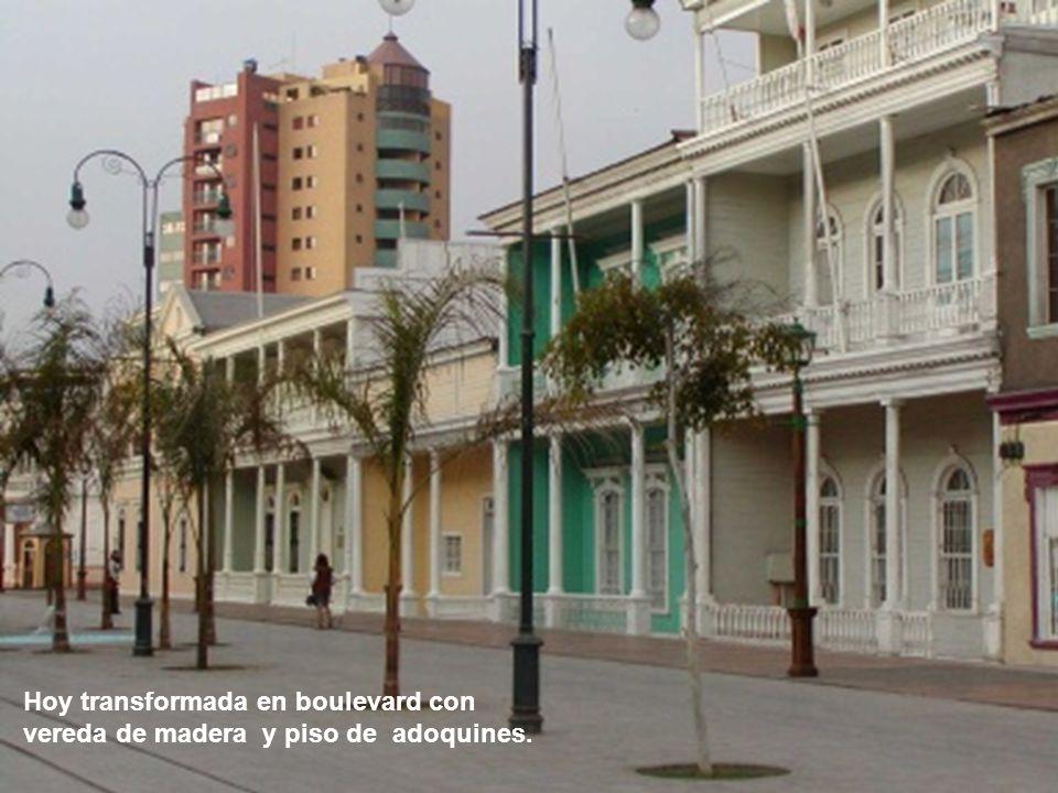 Calle Baquedano, núcleo de residencia de las principales fortunas del salitre.