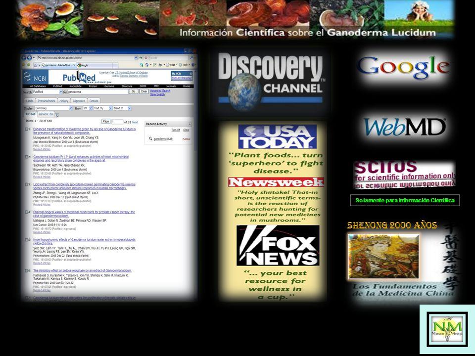 SHENONG 2000 AÑOS Solamente para información Cientiíica
