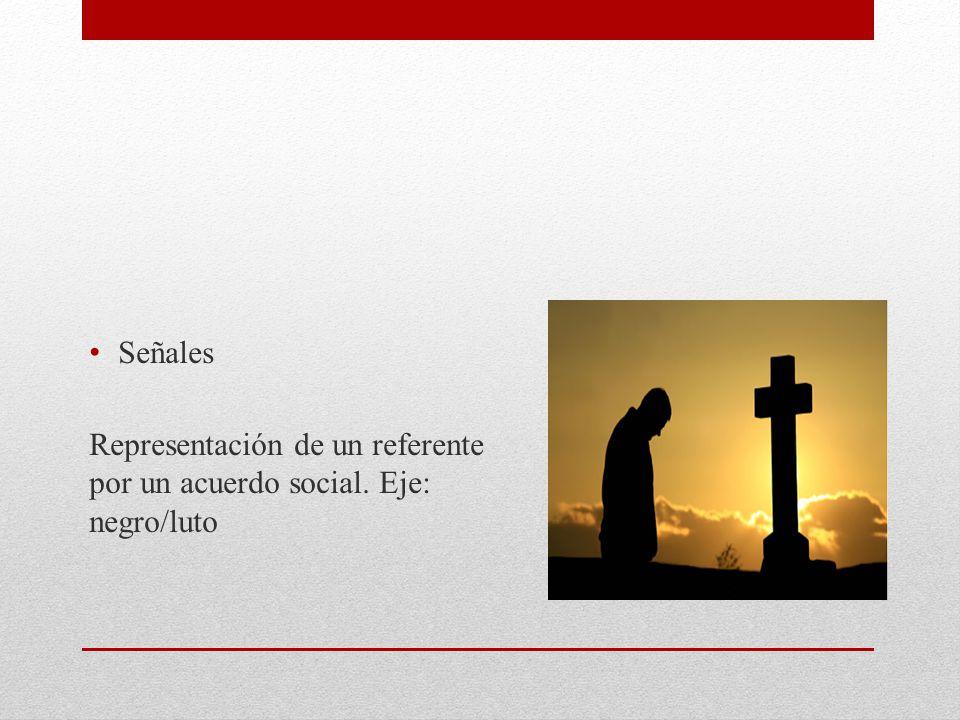 Señales Representación de un referente por un acuerdo social. Eje: negro/luto