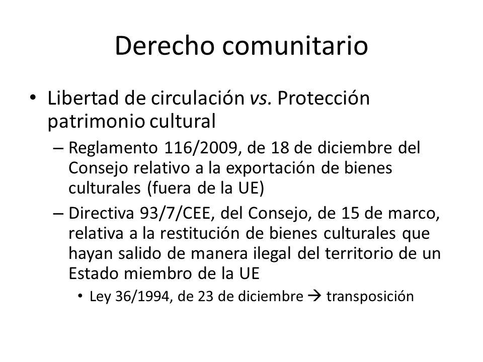 Derecho comunitario Libertad de circulación vs.