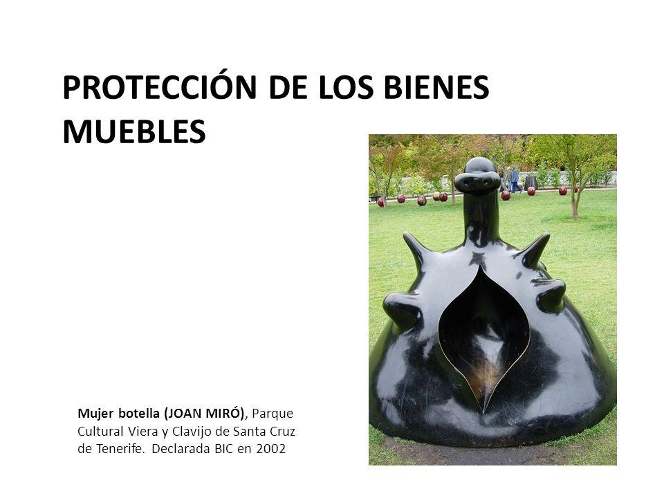 PROTECCIÓN DE LOS BIENES MUEBLES Mujer botella (JOAN MIRÓ), Parque Cultural Viera y Clavijo de Santa Cruz de Tenerife.