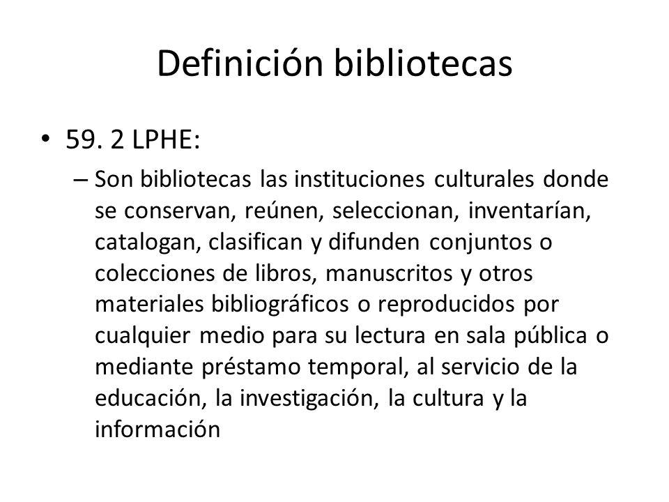 Definición bibliotecas 59.