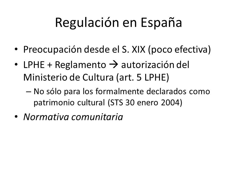Regulación en España Preocupación desde el S.