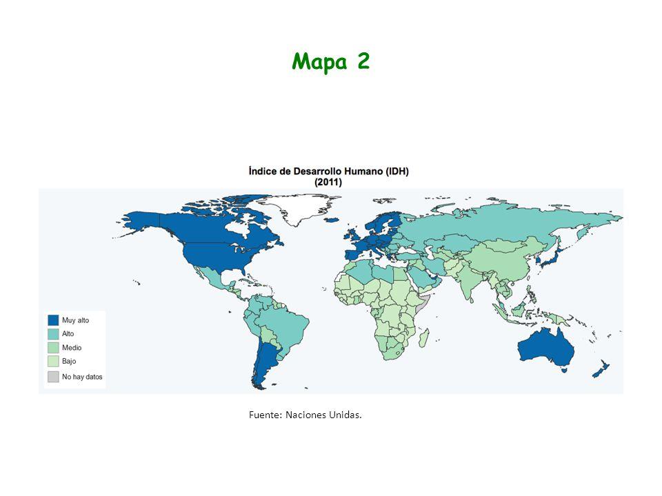 Mapa 2 Fuente: Naciones Unidas.