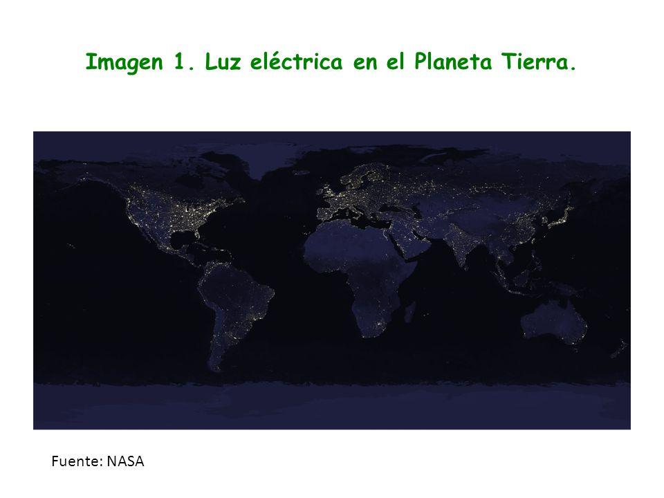 Imagen 1. Luz eléctrica en el Planeta Tierra. Fuente: NASA