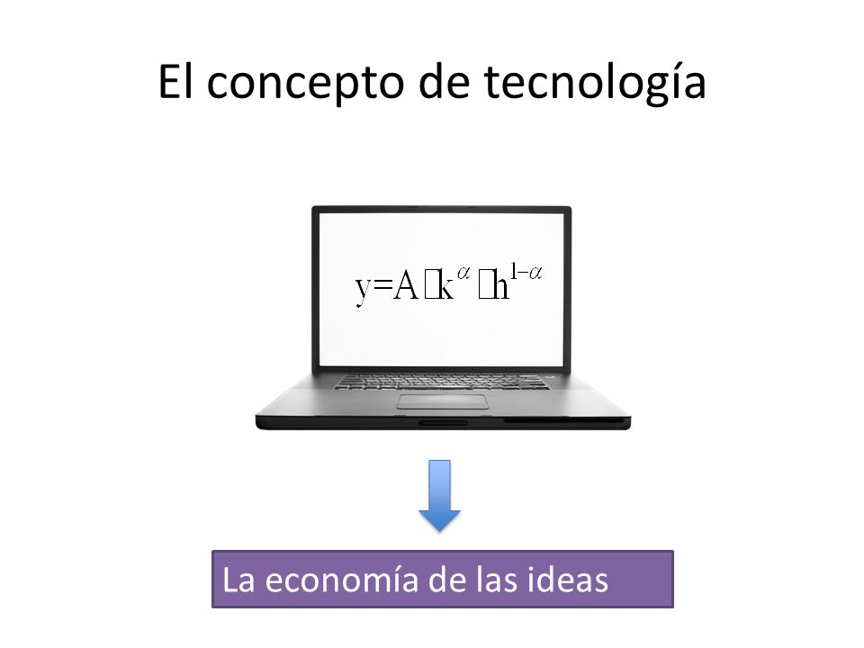 El concepto de tecnología La economía de las ideas