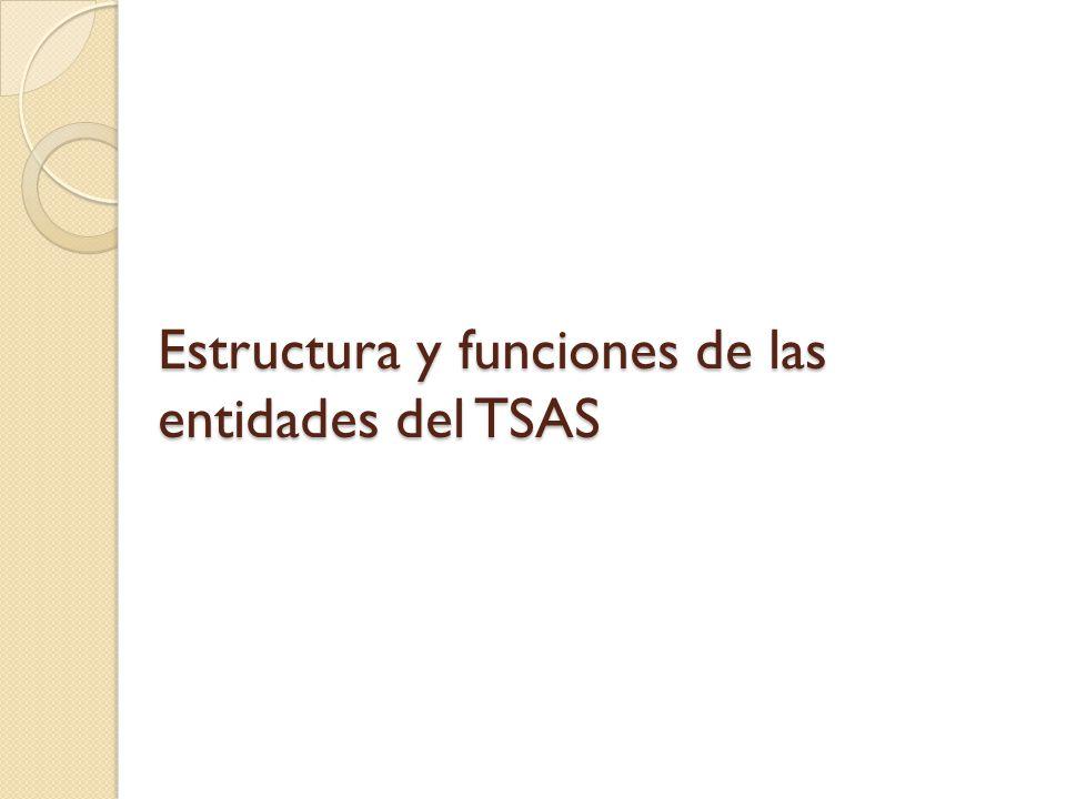 Estructura y funciones de las entidades del TSAS