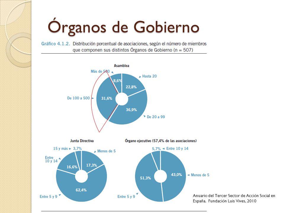 Órganos de Gobierno Anuario del Tercer Sector de Acción Social en España. Fundación Luis Vives, 2010