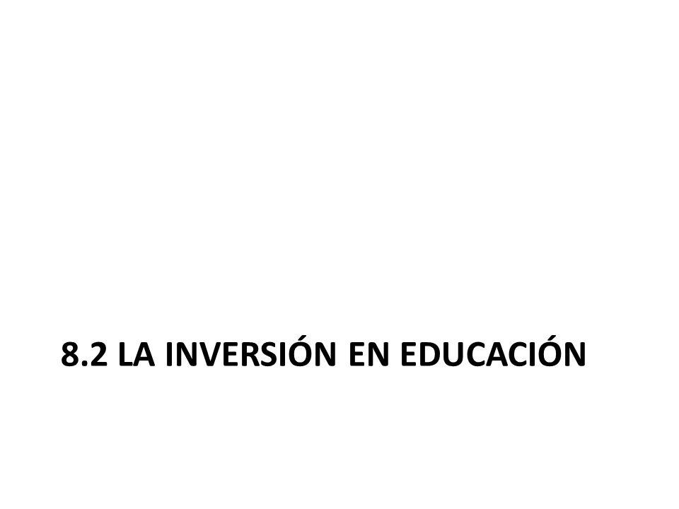 8.2 LA INVERSIÓN EN EDUCACIÓN