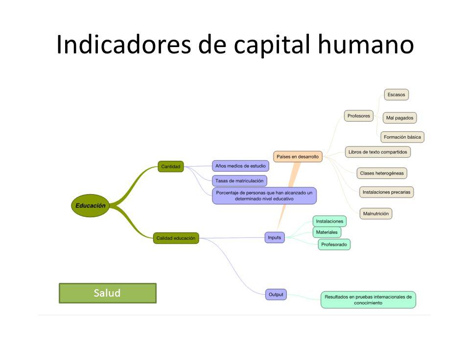 Indicadores de capital humano Salud
