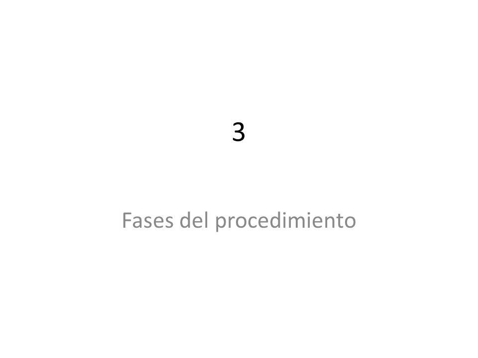 3 Fases del procedimiento