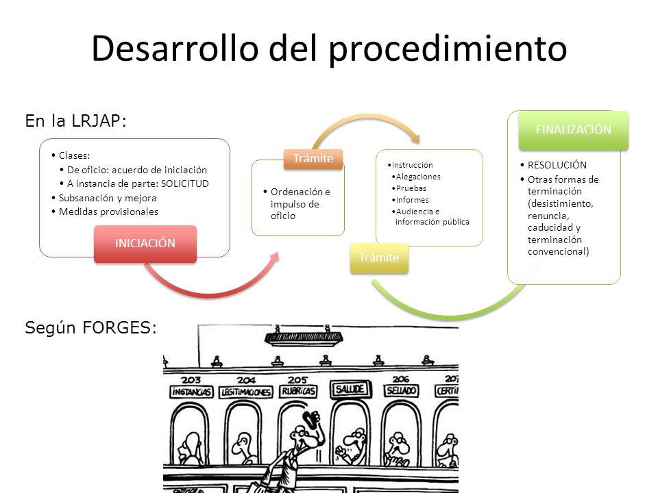 Desarrollo del procedimiento Clases: De oficio: acuerdo de iniciación A instancia de parte: SOLICITUD Subsanación y mejora Medidas provisionales INICI