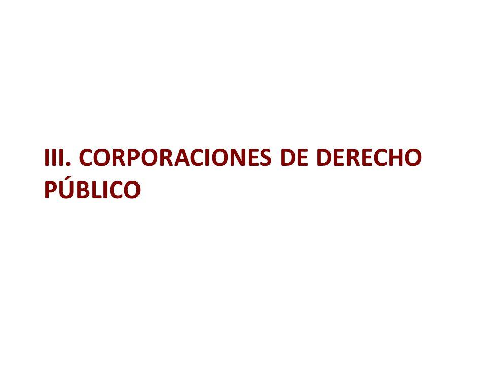 III. CORPORACIONES DE DERECHO PÚBLICO