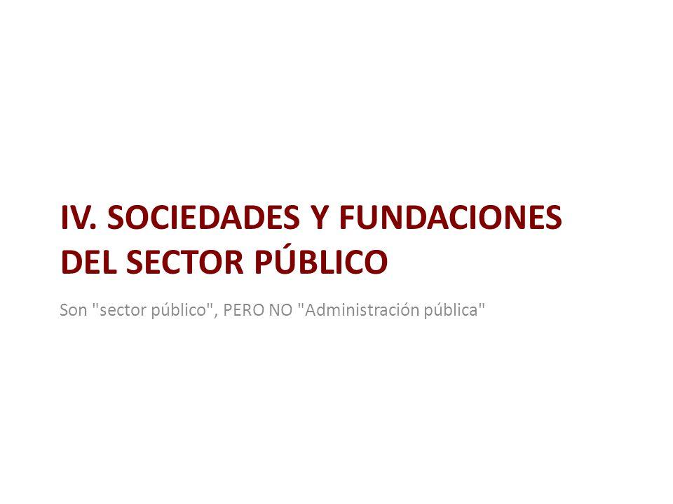 IV. SOCIEDADES Y FUNDACIONES DEL SECTOR PÚBLICO Son